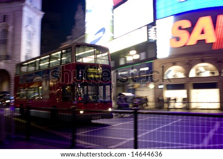 London bus - stock photo
