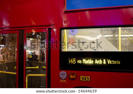 London bus detail - stock photo