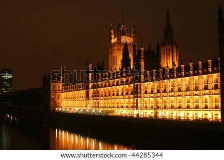 London by night - stock photo