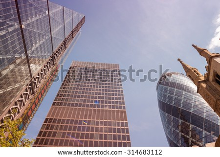 London City. Buildings and skyline. - stock photo