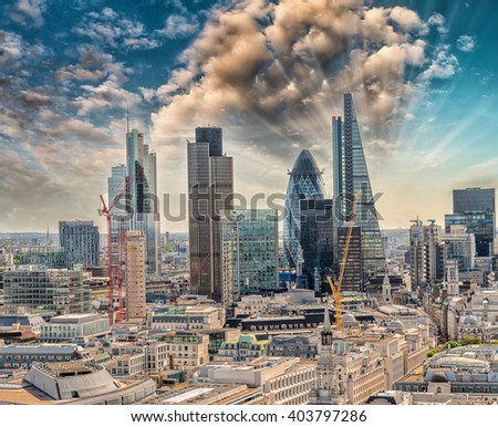 London City. Financial and business district.
