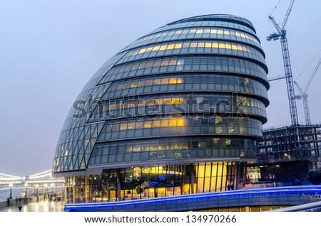 London City Hall at Dusk - stock photo