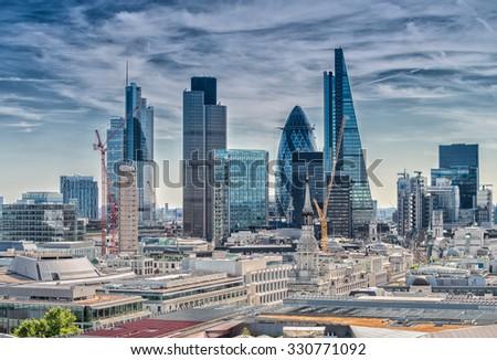 London City. Modern skyline of business district. - stock photo