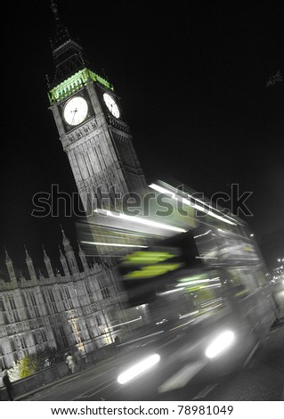 London city nigth - lights - stock photo