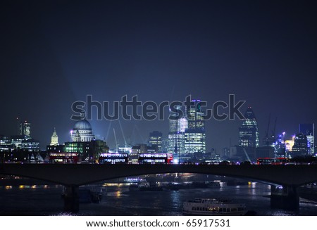 london city skyline - stock photo