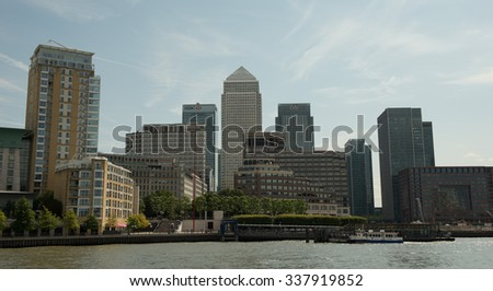 LONDON, ENGLAND - JULY 12: City Center on July 12, 2015 in London.