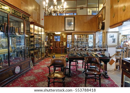 london england november 212016 shop interior john stock photo