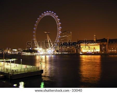 London Eye - stock photo