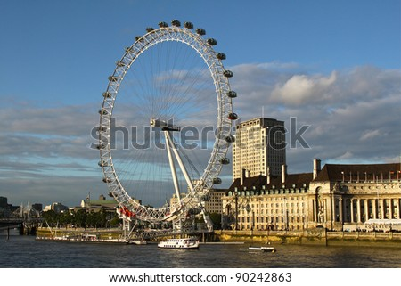 London Eye - stock photo