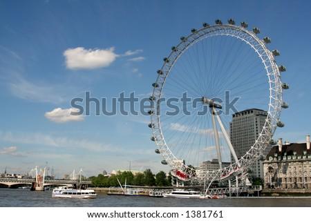 London Eye, London - stock photo