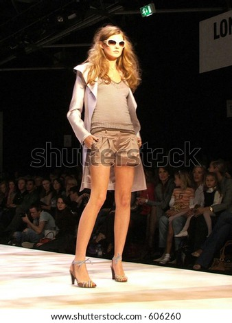 London Fashion Week Spring/ Summer 2006. A piece from  Amanda Wakeley collection. - stock photo