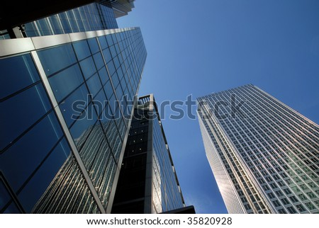 London financial district - stock photo