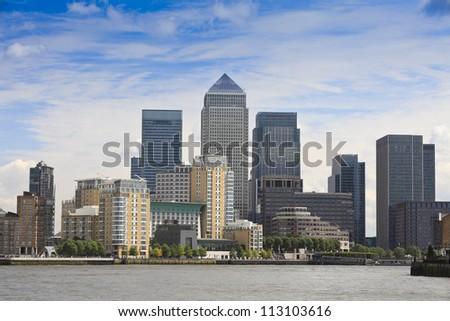 London Financial Hub - stock photo