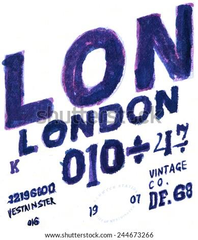 LONDON FONT - stock photo