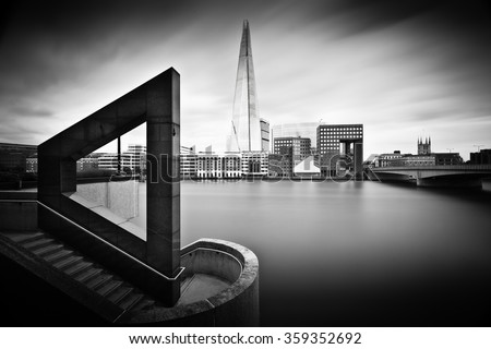 London Geometry, buildings in the city of London - stock photo