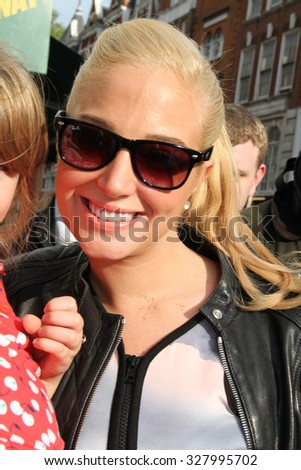 LONDON - JAN 18, 2009: Tulisa Constantinople seen out and about on Jan 18, 2009 in London