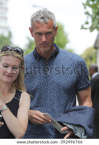 LONDON - JUL 11, 2015: Mark Foster seen at Wimbledon Championships on Jul 11, 2015 in London