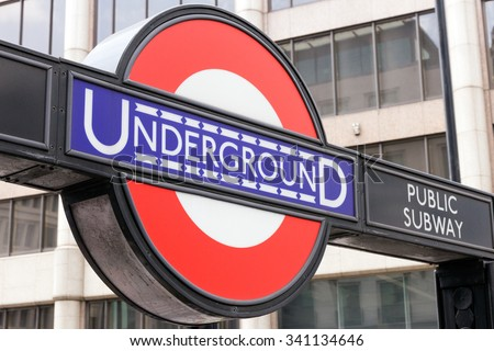 LONDON, JUL 2: Underground tube station in London. The London Underground is the oldest underground railway in the world covering 402 km of tracks - stock photo