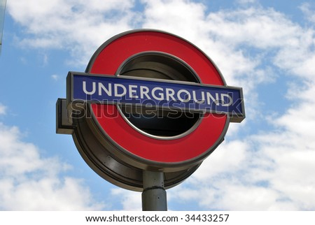 LONDON - JULY 29. Transport for London (TfL) have announced that the famous 'Underground' logo will also be used for other transportation systems in the capital July 29, 2009 - stock photo