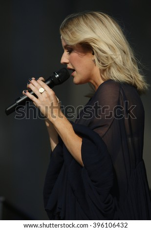 LONDON - JUN 27, 2015: Ellie Goulding at the British Summer Time concert, Hyde Park on Jun 27, 2015 in London