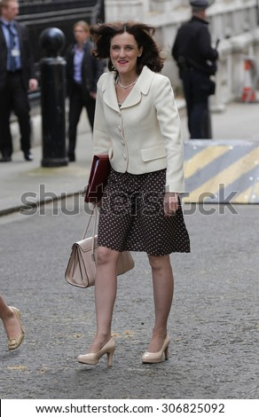 LONDON - JUN 23, 2015: Theresa Villers, Northern Ireland Secretary seen at the Cabinet Office, Downing Street on Jun 23, 2015 in London