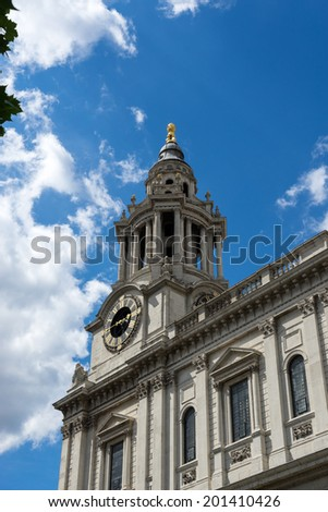 LONDON - JUNE 25 : View of St Paul's Cathedral in London on June 25, 2014