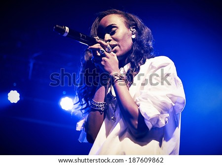 LONDON - MARCH 11: Angel Haze performs at Heaven on March 11, 2014 in London.