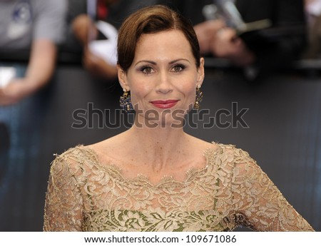 LONDON - MAY 31: Minnie Driver attends the world premiere of 'Prometheus' taking place in two cinemas in Leicester square on May 31, 2012 in London - stock photo