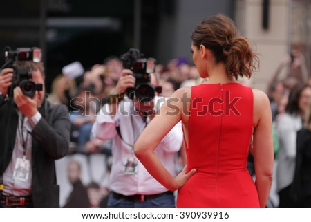 LONDON - MAY 27, 2015: Nargis Fakhri attends The European premiere of SPY at the Odeon Cinema, Leicester Square on May 27, 2015 in London