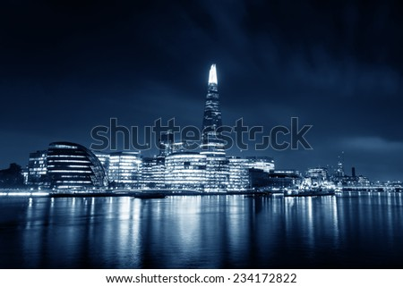 London monochrome - stock photo