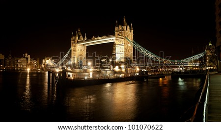 London Night tower bridge - stock photo