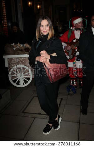 LONDON - NOV 25, 2015: Victoria Pendleton attends the Stella McCartney store Christmas lights switching on Nov 25, 2015 in London