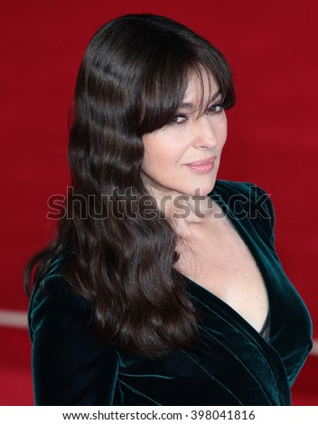 LONDON - OCT 26, 2015: Monica Bellucci attends James Bond Spectre film premiere on Oct 26, 2015 in London - stock photo