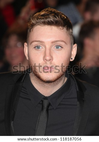 LONDON - OCTOBER 23: James Arthur from X Factor arriving for the Royal World Premiere of 'Skyfall' at Royal Albert Hall 23/10/2012 in London. - stock photo