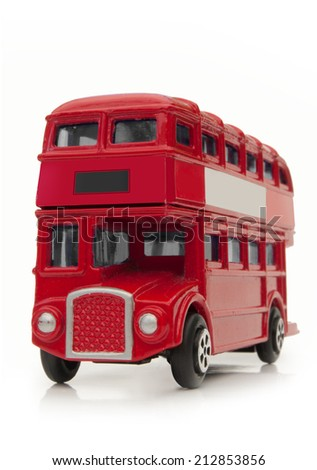 London old route master bus - stock photo