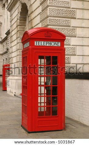 London phone booth - stock photo