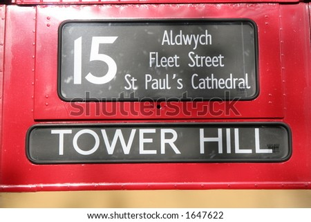 London Red Bus - Destination Guide - stock photo