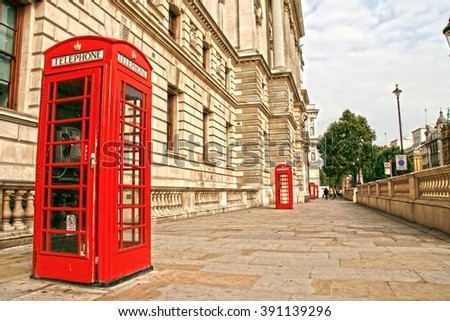 London Red Phone Booths