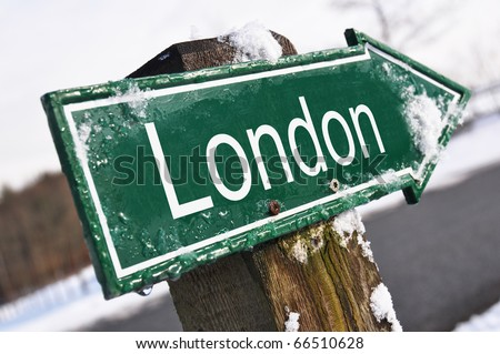 London road sign - stock photo
