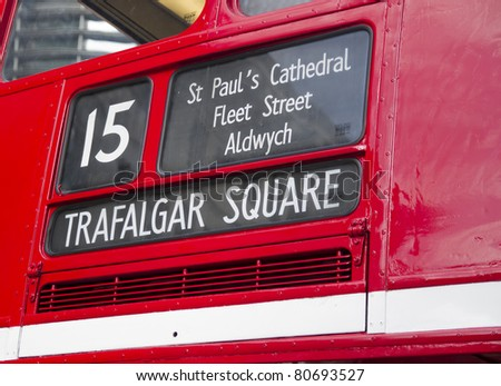London Routemaster Bus in detail - stock photo