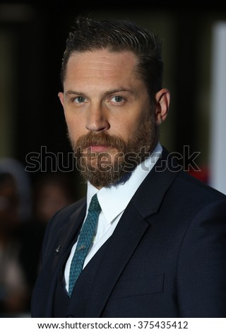 LONDON - SEP 3, 2015: Tom Hardy attends Legend - UK film premiere on Sep 3, 2015 in London