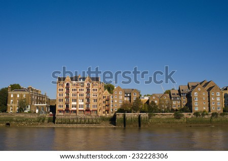 London skyline - stock photo