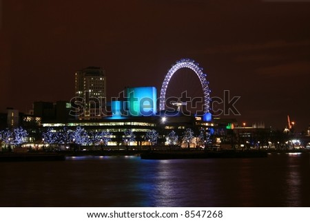 London Skyline at Night - stock photo