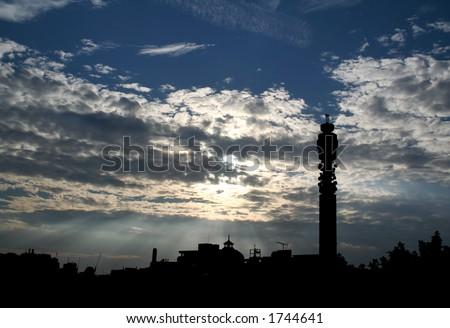 London Skyline (BT Tower) - stock photo