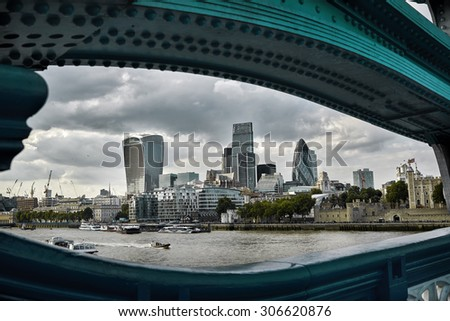 London skyline. Business modern district - stock photo