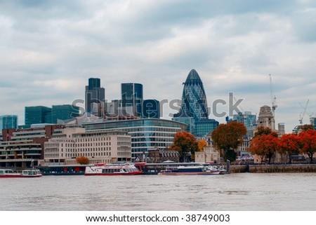 London skyline, Great Britain - stock photo