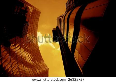 London Skyscraper Buildings - stock photo