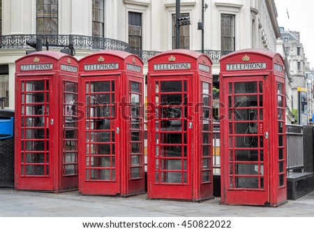 London Telephone Red Cabins