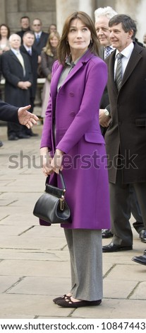 London 27th March 2008 State Visit of the President of the French Republic and Mme Sarkozy - stock photo