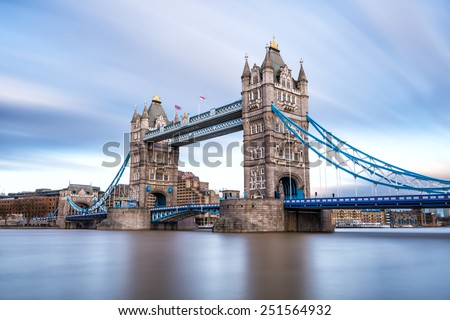 London Tower Bridge on the Thames River. It is an iconic symbol of London, United Kingdom.